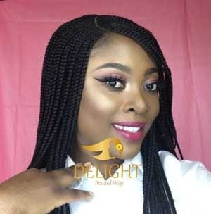 Handmade Front Lace Braided Wigs-Mercy