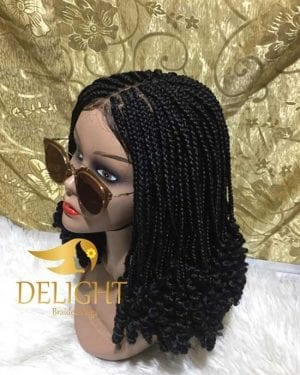 Box Braid Wig With Curly Ends- Murede
