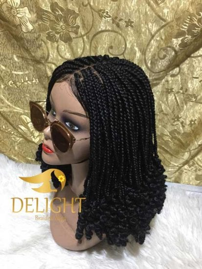 Box Braid Wig With Curly Ends Murede Delight Braided Wigs
