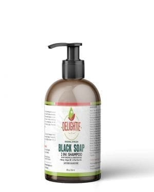 African Black Soap Shampoo, Natural Sulfate free Shampoo for Clarifying and Itching Scalp 8oz
