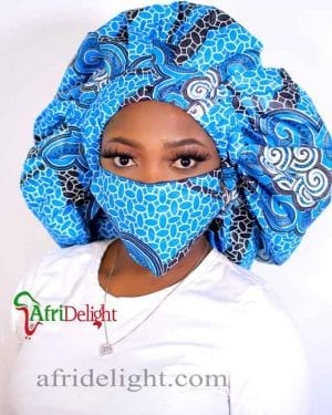 Ankara Two in one reversible Hair Bonnet- Mabel
