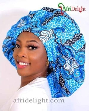 Ankara 2-in 1 Reversible Hair Satin Bonnet