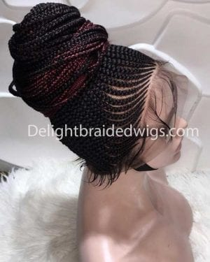 Braided Wigs Full Lace Shuku With baby Hair- Delight