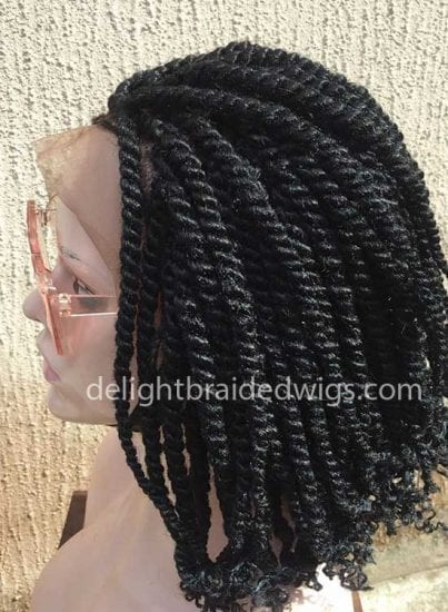 Fully hand-braided Kinky Twist Wig
