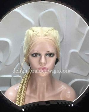 Braided Wigs Full Lace With Baby Hair Blonde- KHLOE