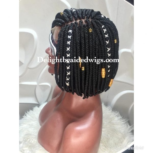 Bob box braid wig