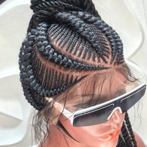 Full Lace Braided Wig color 1B- Tamara