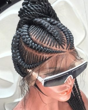 Full Lace Braided Wig color 1B- Tamara