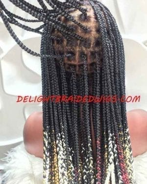 Knotless Box Braid Wig-Mary Ombre