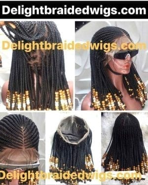 Tribal Cornrow Braid Wig- Cardi B Style