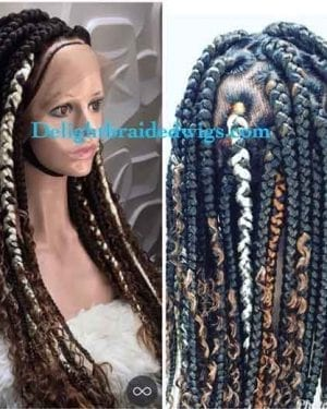Box Braid wigs-Jare with curls