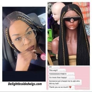 Full Lace Braided Wig color -Moore