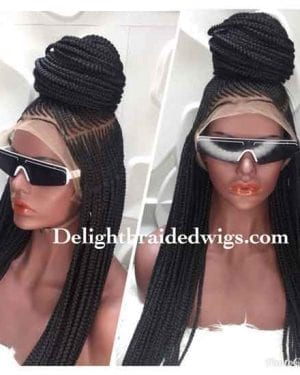 Full Lace Braided wig With Baby Hair-Lauren