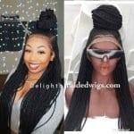 ponytail updo braided wig