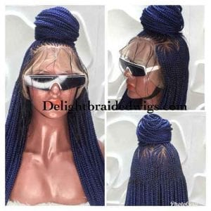 Full Lace Braided wig With Baby Hair- Avo