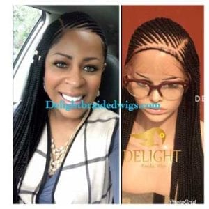 Full Lace Braided Wig color -Toyin photo review