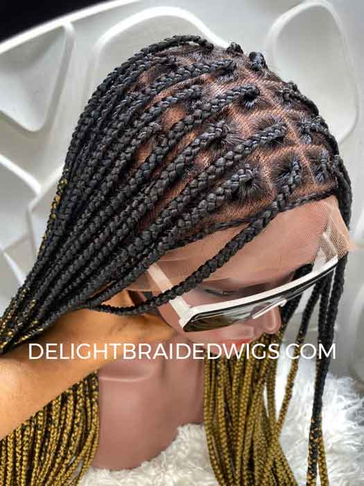 Ready To Ship Knotless Box Braids Wig 1 27 Ombre Hd Lace