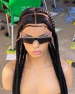 Full Lace Braided wig With Baby Hair- Megan